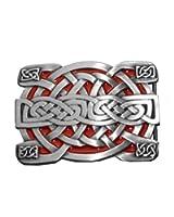 Irish Celtic Knot Red Belt Buckle