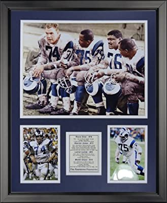 "Legends Never Die Los Angeles Rams - Fearsome Foursome Color Framed Photo Collage, 16"" x 20"""