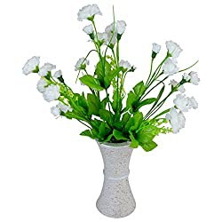 Thefancymart Artificial Carnation Flowers With Designer Pot Style Code - FP-188