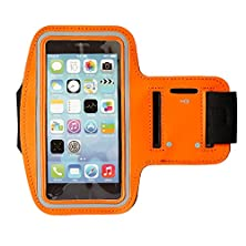 buy Laixi® Lightweight Sports Armband For Iphone 6 /6S Mobile Phone, Water Resistant Material With Key Holder Orange