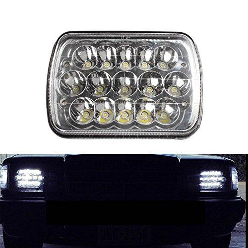 Lantsun 7x6 LED Headlight Crystal Clear Sealed Dual Beam Headlamp Headlights (1 Pc) Ls6454 (6054 Led Sealed Beam Headlight compare prices)