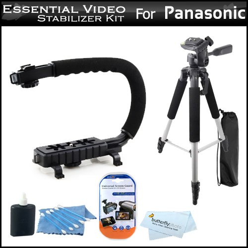 >>  Essential Video Stabilizer Kit For Panasonic HDC-SD80K HD Camcorder Includes AXIS-G Camcorder Action Stabilizing Handle + 57 Full Tripod w/Case + LCD Screen Protectors + 3pc Cleaning KIt + MicroFiber Cloth