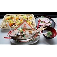 お食い初めに祝い膳ちらし寿司(天然鯛400g・国産はまぐり300g・穴子かまぼこ1本・ちらし寿司の素お米3合分・ボイル済みタコ足1本)