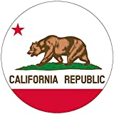 Chic 3 in 1 California Flag Jumbo Badge Button Pin 3.75 Inches