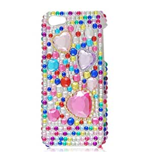 Colorful Bling Faceted Crystal Hard Back Case Cover for Apple iPhone 5 5G