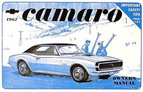 1967 Camaro Owners Manual (with Racing Decal) (1967 Camaro Restoration compare prices)