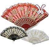 ドン・キホーテやスペインの踊り、キトリ、バレエ用 レース扇子 バラ柄 練習用