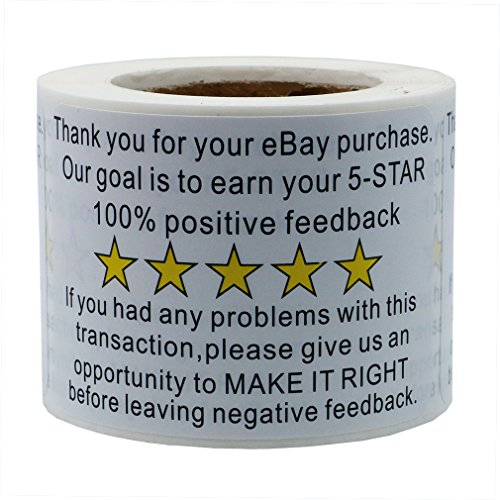 hybsk-23-ebay-thank-you-for-your-purchase-feedback-shipping-labels-adhesive-label-200-per-roll