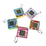 Homiees Virtual Digital Pet, Electronic Game Machine With Keychain, LCD Cute Square Shape Toy 1pc