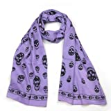 Skull Print Scarf for Women - Buy exquisite skull print scarf - Ladies/Girls fashion scarf - Black, Pink, Purple