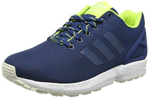 Adidas Zx Flux, Espadrillas Uomo, Blu (Shadow Blue/Solar Yellow/Haloshadow Blue/Solar Yellow/Halo), 42 EU