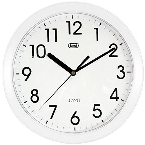 Trevi OM 3301 - Orologio da Parete - Quarzo silenzioso - 25cm - Bianco