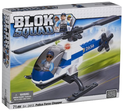 Mega Bloks Blok Squad Chopper and Figure