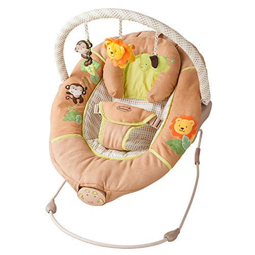 Best Buy! Summer Infant Sweet Comfort Musical Bouncer, Swingin' Safari