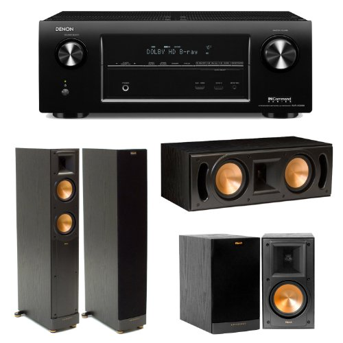 Denon Avr-X3000 In-Command 7.2-Channel 4K Ultra Hd Networking Home Theater Receiver Plus (1) Pair Of Klipsch Rf-52 Ii Floorstanding Speakers, (1) Pair Of Klipsch Rb51 Ii Bookshelf Speakers & (1) Klipsch Rc52 Ii Center Channel Speaker