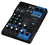 Yamaha MG06X 6-Channel Mixing Console with Built-In FX Bundle with Vocal Mic Headphones XLR Cable Instrument Cable and Polishing Cloth