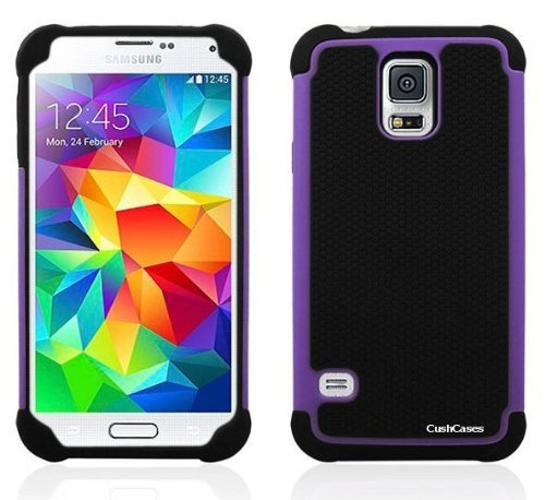 Cush Cases [Blitz Series] Heavy Duty Rugged Case For Samsung Galaxy S5 Sv S V Smart Phone Purple