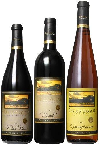 Okanogan Estate & Vineyards Washington State Variety Mixed Pack, 3 X 750 Ml