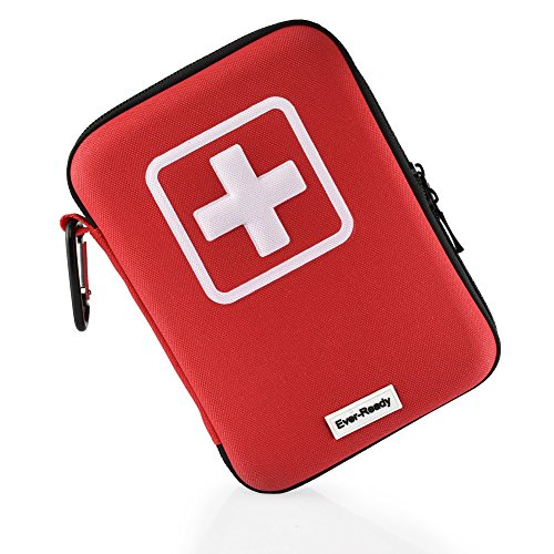 Ever-Ready First Aid Kit, 139 Essential items - Reliable Emergency Equipment- Red Hard Case with White Cross- Ready for any Camping or Survival - Easily Fits in Car Glovebox or Home Drawers. (Ultralight Thermal Blanket compare prices)