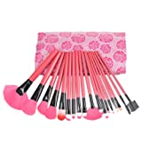 W&B Lion Inc New Arrival Stylish Super Professional Cosmetic Make up Brush Brushes Set Kit Fashion Tools With Bag Case Pouch Girlfriend Birthday Gift Idea