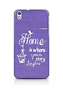 AMEZ home is where your story begins Back Cover For HTC Desire 816