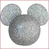 Disney - Mickey Mouse - Silver Glitter Mickey Head Antenna Topper