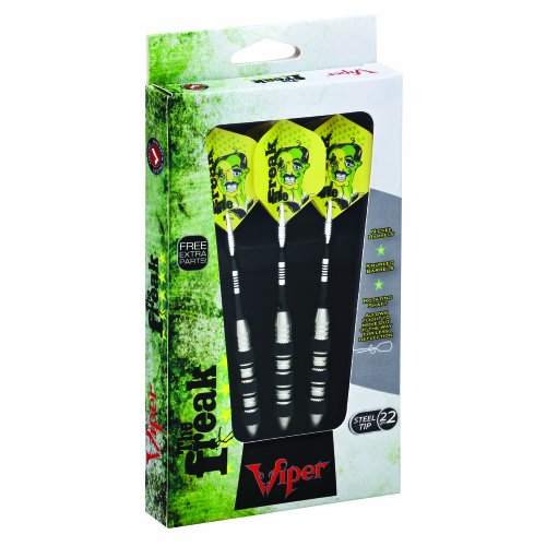 Viper The Freak Triple Band Steel Tip Darts, 22 Grams cuesoul professional electronic soft tip darts with 90