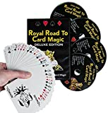 Magic DVD Set - Royal Road to Card Magic Deluxe - Complete Set with DVD and Delands Marked Deck - Learn Over 100 Card Trick Effects, Beginner to Expert
