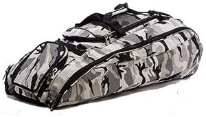 Gray Camouflage Cobra Softball Baseball Bat Equipment Roller Bag by MAXOPS