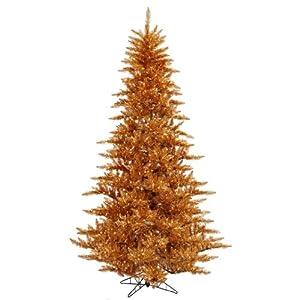 "Vickerman 28418 - 6.5' x 46"" Copper Fir 600 Clear Lights Christmas Tree (K127166)"