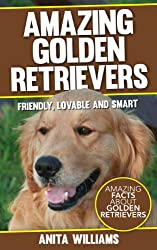 AMAZING GOLDEN RETRIEVERS- A Childrens Book About Golden Retrievers Dogs and their 12 Amazing Facts, Figures, Pictures and Photos- (Dog Books For Kids)