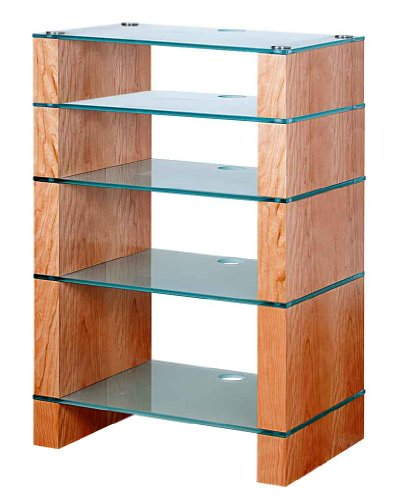 Cheap BLOK STAX DeLuxe 500 Five Shelf Cherry Hifi Audio Stand & AV TV Furniture Rack Unit (B008AHJ7DQ)