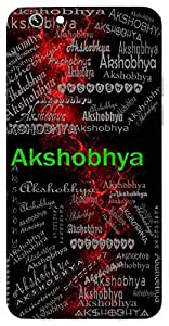 Akshobhya (Lord Vishnu) Name & Sign Printed All over customize & Personalized!! Protective back cover for your Smart Phone : Samsung Galaxy S4mini / i9190