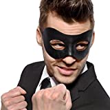 Classic - Black Masquerade Mask - Faux Leather - Party Mask - Venetian Mask - Men's - Mens - Unisex
