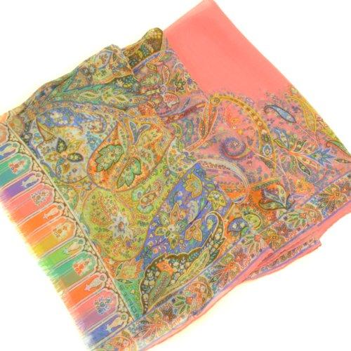 (エトロ) ETRO ロングスカーフ 10007 5423 650 64x166 ピンク 並行輸入品