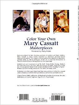 Color your own mary cassatt masterpieces dover art for Mary cassatt coloring pages