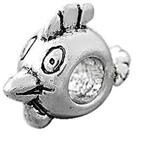 Charm Buddy Angry Birds Charms Bead Fits Silver Pandora Style Bracelets