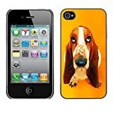 Paccase Hard Protective Case Cover Basset Hound  Pendant Ear Dog Apple Iphone 4 4S