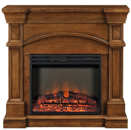 Muskoka MEF2391BWL Oberon Electric Fireplace Mantel with Breakfront Design photo B00DEWZWAO.jpg