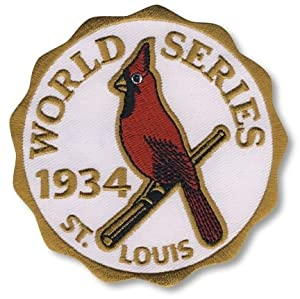 2 Patch Pack - 1934 St. Louis Cardinals World Series MLB Baseball Patches Cooperstown... by Hall of Fame Memorabilia