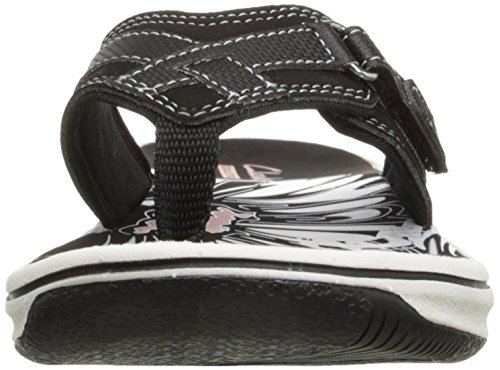 Clarks Women's Breeze Sea Flip Flop,Black,9 M US