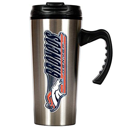 Nfl Denver Broncos 16-Ounce Stainless Steel Travel Mug