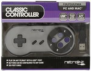 Retro-Bit PC USB Compatible Controller-Gray, Super NES