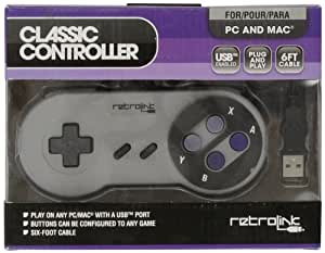 Retro-Bit PC USB Compatible Controller-Gray, Super NES