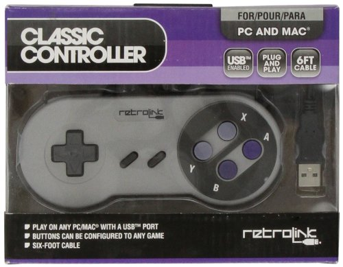 Nintendo Retrolink Usb Super Snes Classic Controller back-269746