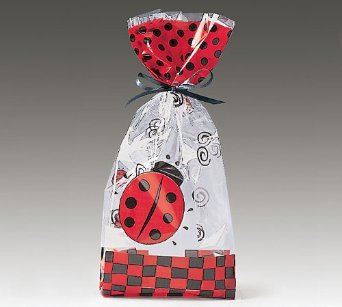 Ladybug Cellophane Cello Bags Party Favor Large