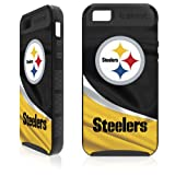 Skinit SNTNFLPIT02IPH5K1 Cargo Hybrid Case for iPhone 5 & 5s - Retail Packaging - Pittsburgh Steelers