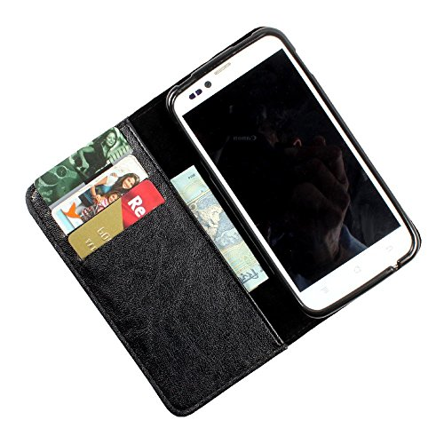 i-KitPit PU Leather Wallet Flip Case Cover For HTC Desire VC (Black)