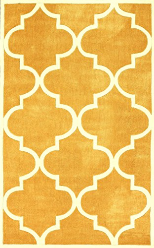 nuLOOM ACR129B Cine Collection Contemporary Fez Hand Made 100% Polyester Trellis Area Rug, 5-Feet by 8-Feet, Mustard