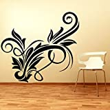 Decal Style Swirls Wall Sticker Small Size- 14*12 Inch Color - Black